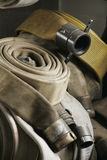 Coiled Hoses. Coiled fire hoses Royalty Free Stock Image