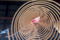 Coiled Joss Stick. At Buddhist temple Royalty Free Stock Photography