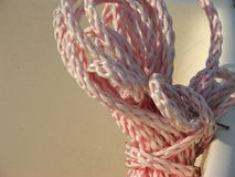 Coiled Nylon Rope Royalty Free Stock Images