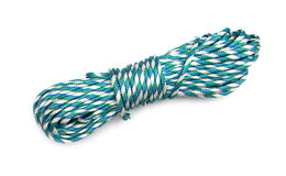 Coiled Nylon Rope isolated Royalty Free Stock Photo