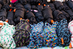 Coiled Nylon Rope. Stock Image