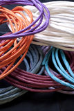 Coiled paper craft twists. Stock Images