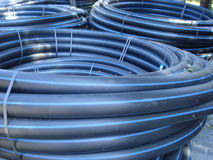Coiled plastic tubes Royalty Free Stock Photos