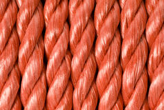 Coiled Red Rope Background Stock Photo