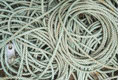 Coiled rope background wallpaper Royalty Free Stock Images