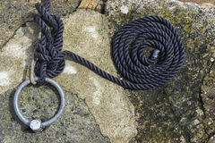 Coiled rope in Norway Stock Photography