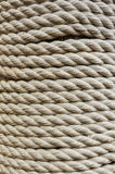 Coiled rope. A very strong coiled rope, part of ship Stock Photography