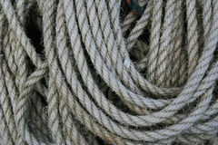 Coiled rope. Stock Photo