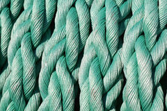 Coiled ship rope Stock Image