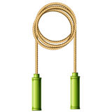 Coiled skipping rope (jump-rope ring) Stock Photography