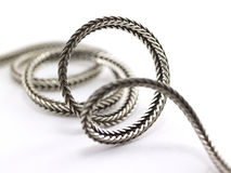 Coiling silver chain Stock Photography