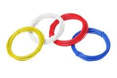 Coils av färgtrådar royaltyfri bild