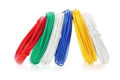 Coils av färgtrådar arkivbilder