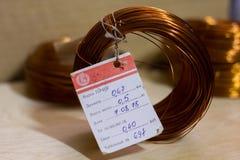 Coils av koppartråd royaltyfria foton
