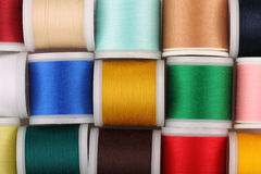 Coils with color threads Stock Images