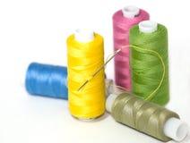 Coils of colour threads Stock Photos