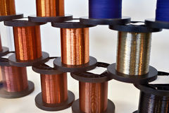 Coils with copper wire Royalty Free Stock Images