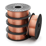Coils of copper wires Royalty Free Stock Image