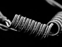 Coils for electronic cigarettes Stock Images