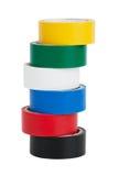 coils färgat band arkivbilder