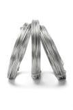coils galvaniserade plattform trådar arkivfoton