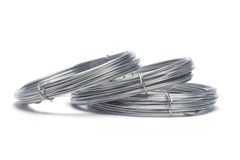Coils of galvanized wires Stock Image