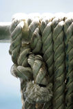 Coils of old rope Stock Photo