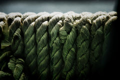 Coils of old weathered rope Royalty Free Stock Image