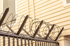 Coils of Razor Wire Royalty Free Stock Photos