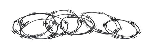 Coils of Razor Wire Royalty Free Stock Image