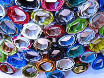 Coils of recycled magazines stock images
