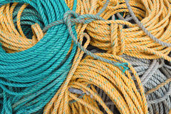Coils of shipping ropes Royalty Free Stock Photo