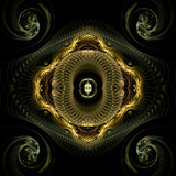 Coils and spirals. Abstract fractal image resembling various types of coils and spirals Royalty Free Stock Images