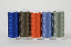 Coils with threads. For sewing machines, fashion Royalty Free Stock Photography