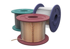 Coils of wire Stock Photos