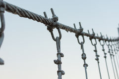 Coils of wire or cable used for suspension bridge. Coils of wire or cable Stock Photography