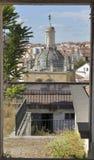 Coimbra através de uma janela Imagens de Stock Royalty Free