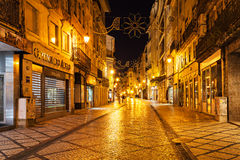 Coimbra central street Royalty Free Stock Photography