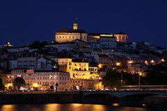 Coimbra City Night View - Portugal Stock Photo