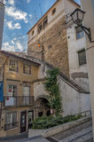 Coimbra . Courtyards and streets of the old city Royalty Free Stock Images