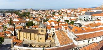 Coimbra czerwieni dachy Obraz Royalty Free
