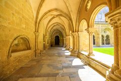 Coimbra katedry kolumnada fotografia royalty free