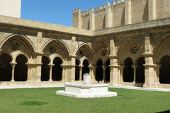 Coimbra old cathedral cloister Royalty Free Stock Image