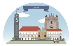 Coimbra, Portugal ilustração stock