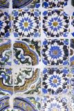 Coimbra Portugal, Juni 11, 2018: Traditionellt gammalt dekorerat c Royaltyfri Foto
