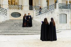 University of Coimbra, established in 1290 stock images