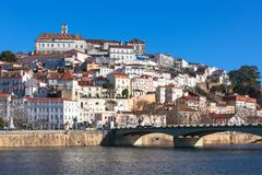 Coimbra, Portugal, Old City View. Sunny Blue Sky Stock Photography