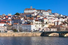 Coimbra, Portugal, Old City View Royalty Free Stock Photos