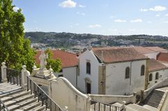 Coimbra seen from the university Royalty Free Stock Photography