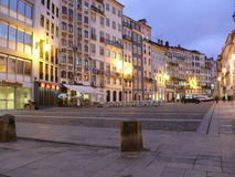 Coimbra square in the evening Royalty Free Stock Images
